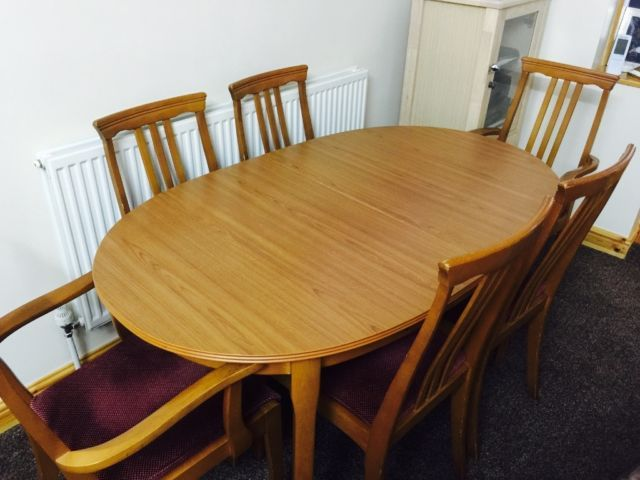 Extendable Dining Table And 6 Chairs For Sale On Gumtree Extending Wooden