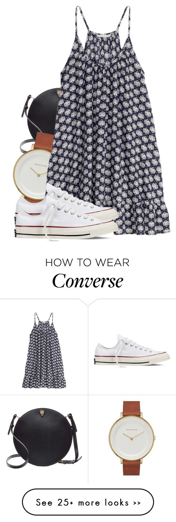 """""""Untitled #493"""" by triskid on Polyvore featuring Valextra, Skagen, H&M and Converse"""