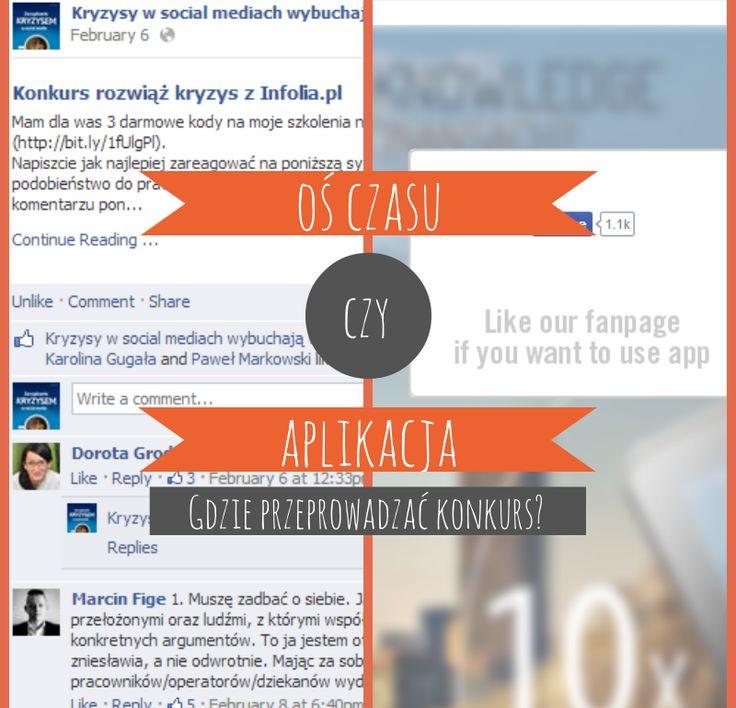 konkursy na Facebooku - aplikacja czy oś czasu? #facebook #konkurs #aplikacja #ośczasu #poradnik
