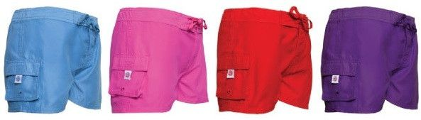 Girl's Board Shorts - Assorted Solid Colors Case Pack 30