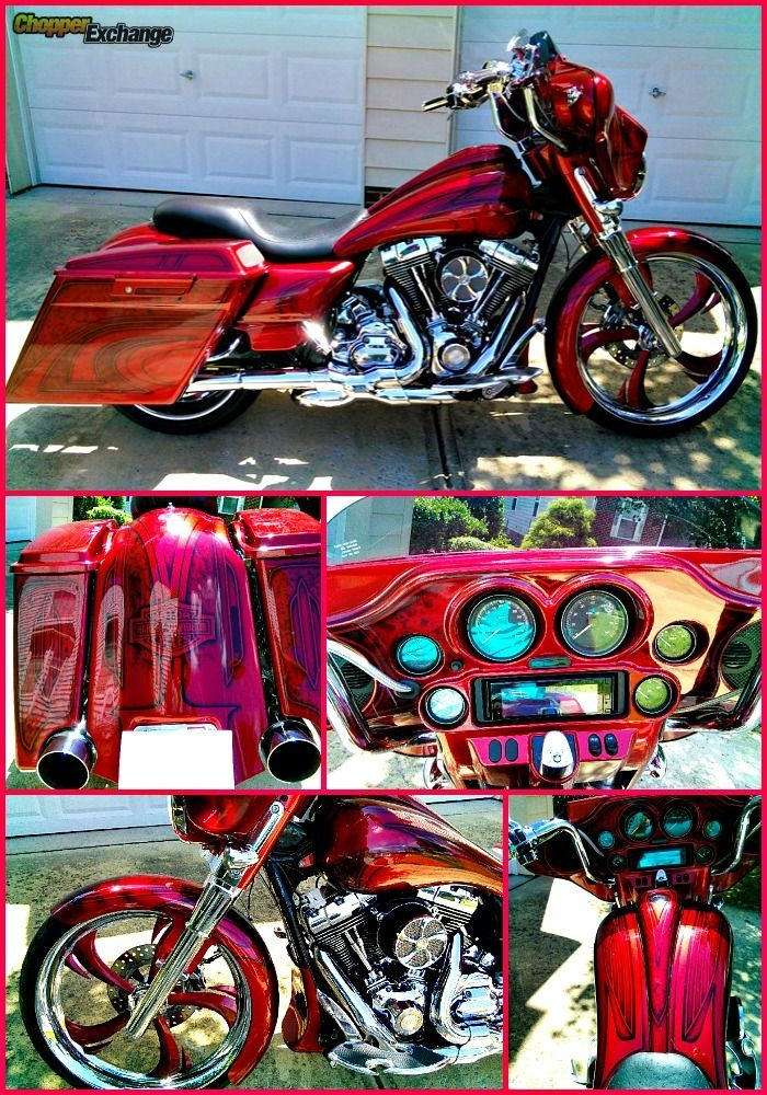 FOR SALE 2011 Harley-Davidson Street Glide | Raleigh, NC | House of Kolor Custom paint | 5895 miles | Click the pin for full details or go to www.ChopperExchange.com/488358 | #harley #bikerlife #motorcycle #chopperexchange #custom #harleydavidsonstreetglideforsale