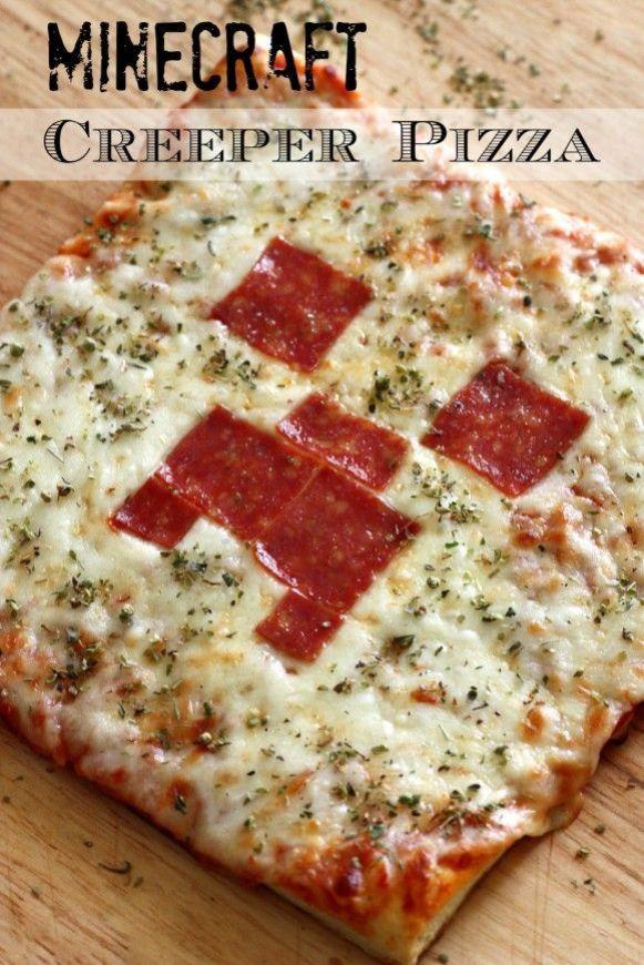 Pizza creeper de Minecraft
