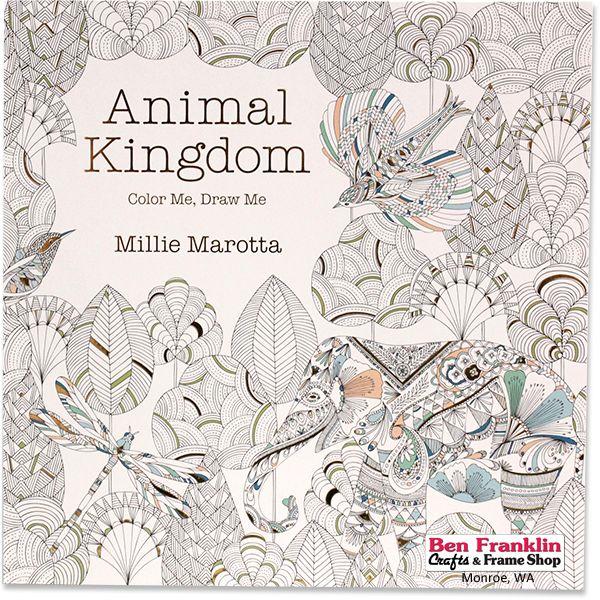 Animal Kingdom Color Me Draw Secret Garden Adult Child Coloring Book