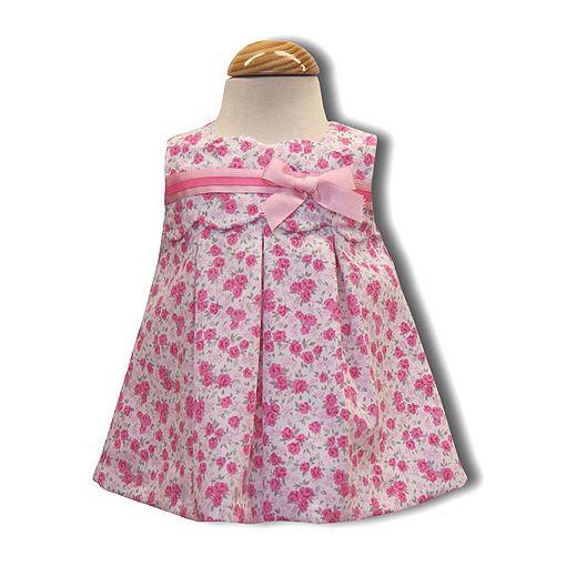 Vestido de piqué con florecitas y lazo