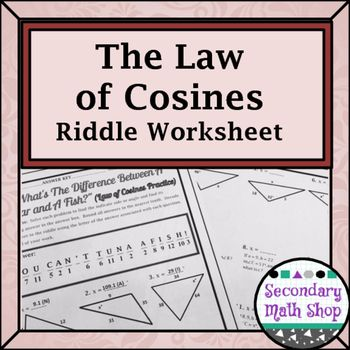 Graphing Inequalities On A Number Line Worksheet Word Best  Law Of Cosines Ideas On Pinterest  Law Of Sines  Forces In Motion Worksheets Excel with Nouns Worksheet First Grade Word Right Triangles  The Law Of Cosines Practice Riddle Worksheet Practice Multiplication Facts Worksheets Excel