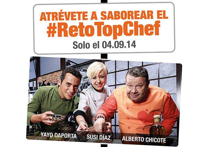 Reto Top Chef, con Alberto Chicote, Susi Díaz y Yayo Daporta http://www.gastronomiaycia.com/2014/08/29/reto-top-chef-con-alberto-chicote-susi-diaz-y-yayo-daporta/