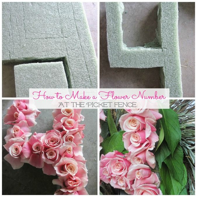 how to make a flower number for birthday www.atthepicketfence.com