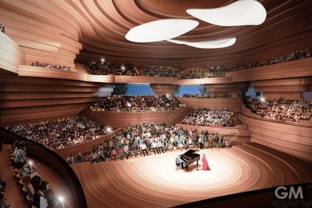 ベートーベン生誕200周年を記念して建てられる美しいコンサートホールのアイデア