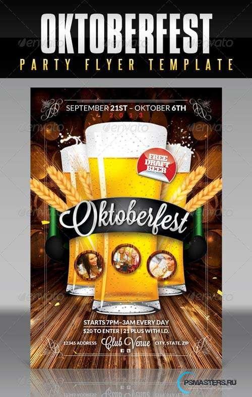 Graphicriver Oktoberfest Flyer Template 5570670 Pinterest Event Poster Design And