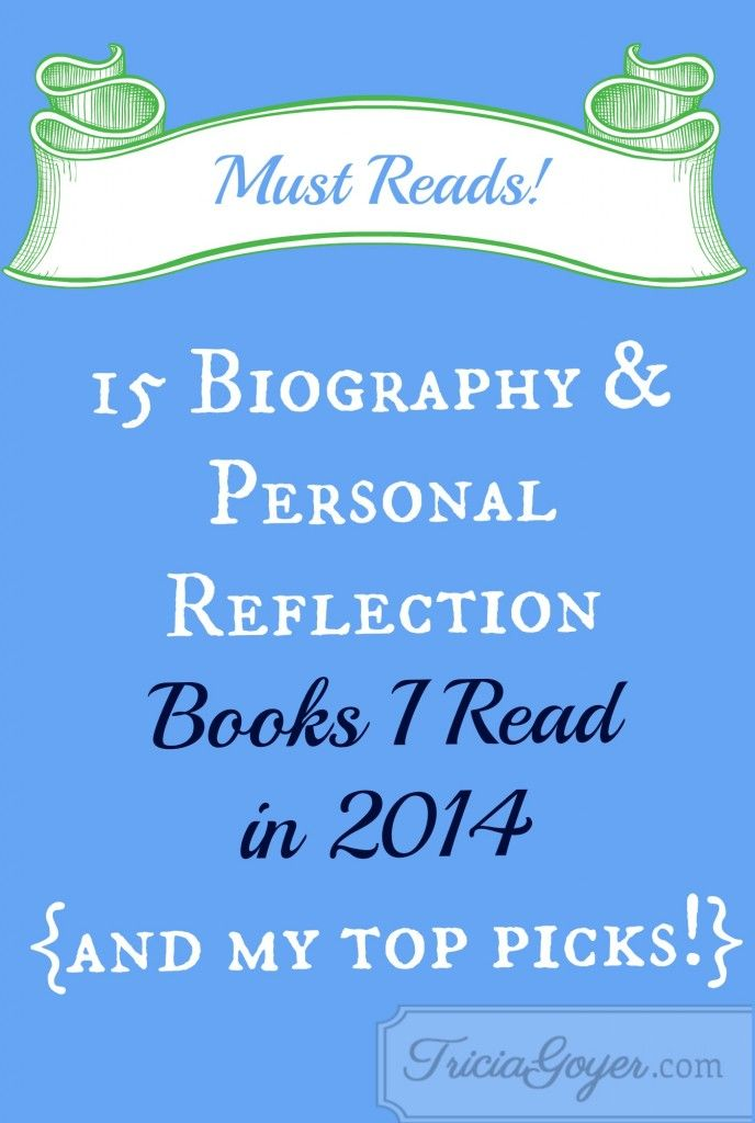 Here is a list of the 15 Biography/Personal reflection books I read. I honestly loved them all!