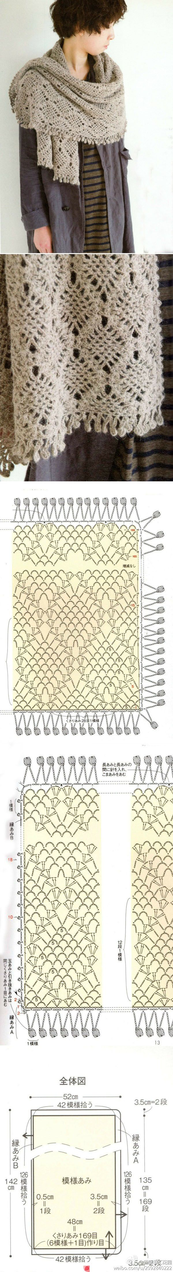 Really like the look of this, hate that it's a chart. May be my motivation to learn crochet charts.