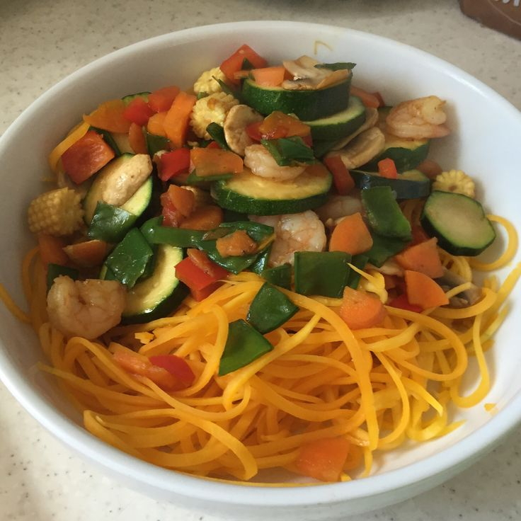 Stir-Fry with Boodles (Buttternut Squash noodles) #SlimmingWorld #SynFree #SP