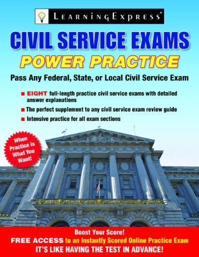 Civil Service Exams: Power Practice by Learning Express Llc. $9.75. Series - Civil Service Exams: Power Practice. Publication: March 16, 2013. Publisher: Learningexpress, Llc (March 16, 2013)