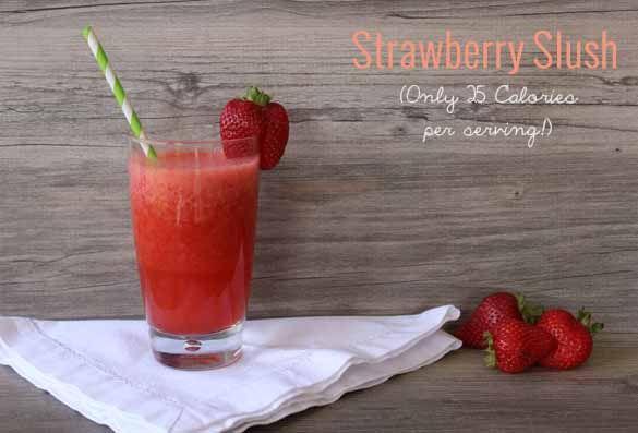 Easy and delicious low calorie strawberry slush!