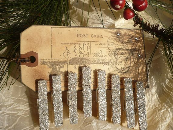 Vintage Inspired Christmas Clothes Pins by nancyslavenderfarm