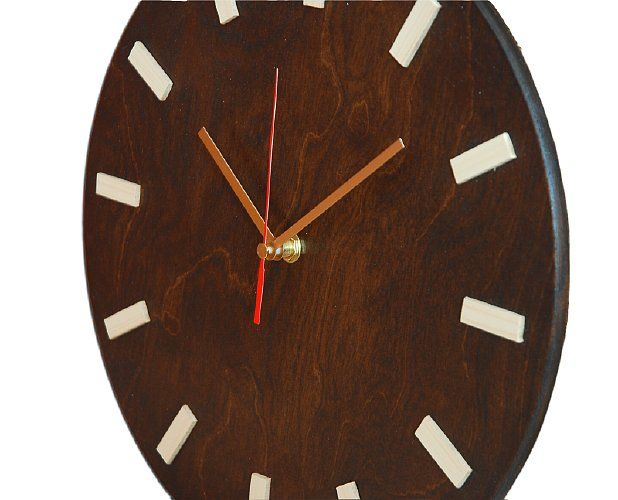 Scandi Clock 30 cm wenge | 76,50zł