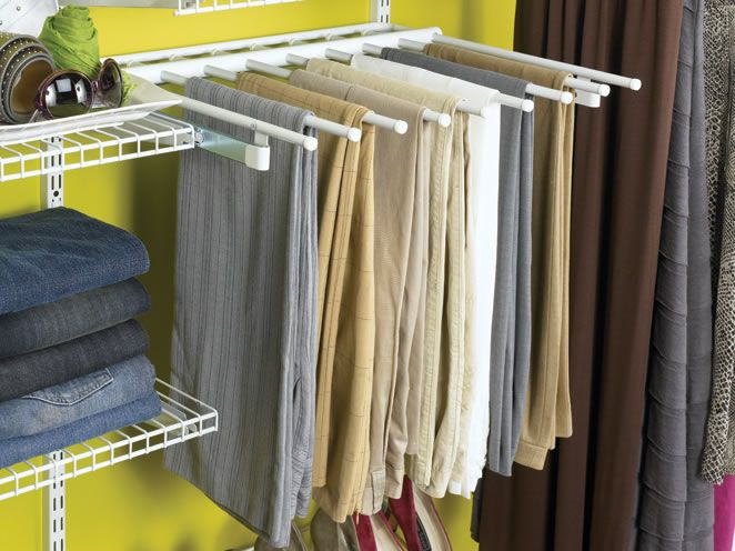 Rubbermaid Comfigurations Slid Out Pants Organizer Holds 7 Pairs. Find This  Pin And More On Master Bedroom Closet ...