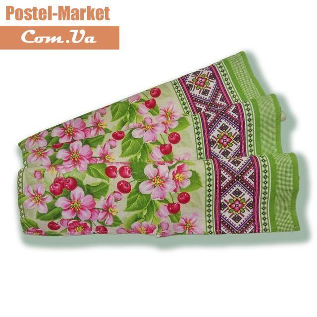 Полотенце рогожка 50х70 Вишня. Купить Полотенце рогожка 50х70 Вишня в интернет магазине Постель маркет (Киев, Украина)