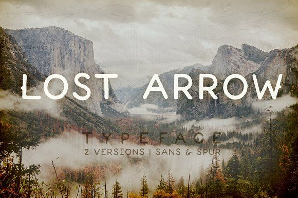 Lost Arrow by JoshuaRed Design on @creativemarket | Type