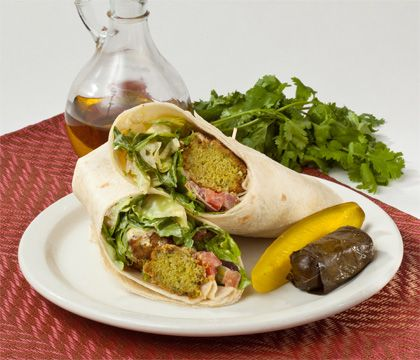 Falafel Wrap Traditional Dishes - Traditional Persian Dishes to Take Out, Catering