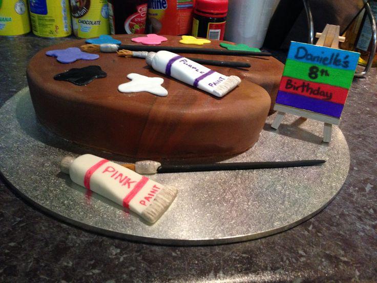 Little Miss 8yo birthday cake.