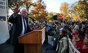 Bernie Sanders rallies supporters with call for new direction in Democratic party The Vermont senator joined a rally celebrating the presumed demise of the Trans-Pacific Partnership to urge his ardent base to organize for the future
