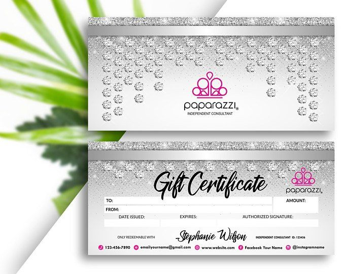Paparazzi Bling Bucks Gift Certificate Printable Digital Etsy Printable Gift Certificate Paparazzi Gifts Client Appreciation Gifts
