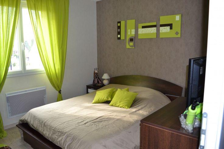 Chambre vert anis - Vue d'ensemble de la chambre