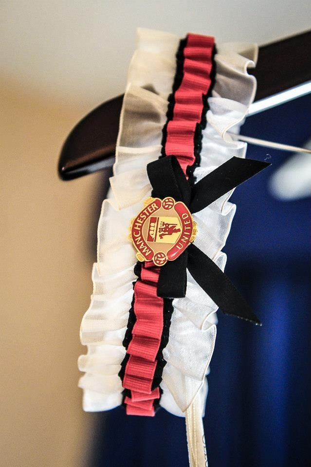 Manchester United for my wedding garter that I made