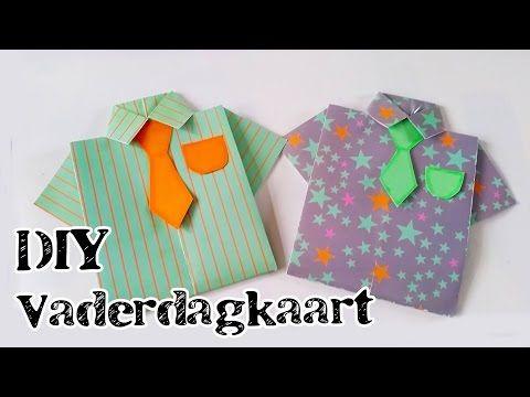 Makkelijke Last Minute Vaderdag Kaart Diy | Stap voor stap uitleg - YouTube