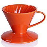 Sweese Kaffeefilter, Kaffeefilterhalter, Porzellan, Größe 2, Orange