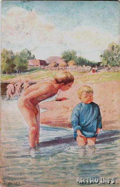 Мальчики купаются