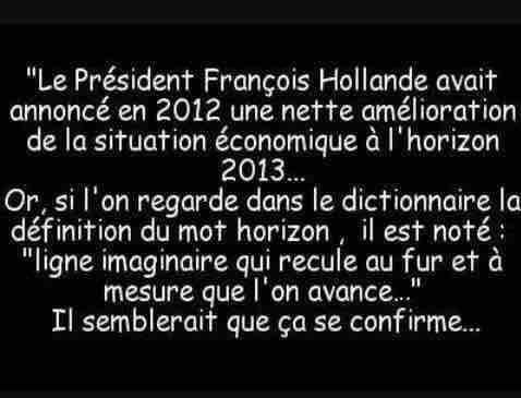 Humour : François Hollande et l'amélioration de l'économie #Economie #Finance…