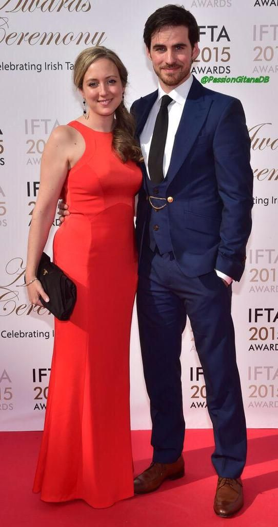 Colin O'Donoghue and Helen O'Donoghue attends the Irish Film And Television Awards on May 24, 2015 in Dublin, Ireland.  2