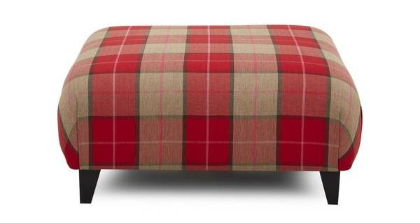 Keeper Multi Check Large Footstool  Keeper Multi Check | DFS