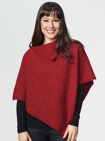 Possumdown Cable Poncho from Possumdown