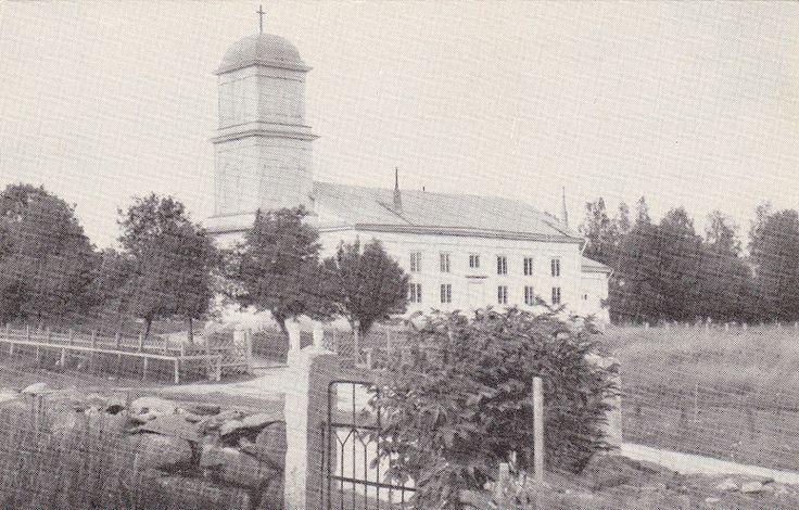 Ähtärin historiaa - Ähtärin vanha kirkko paloi 1935 salaman sytyttämänä.