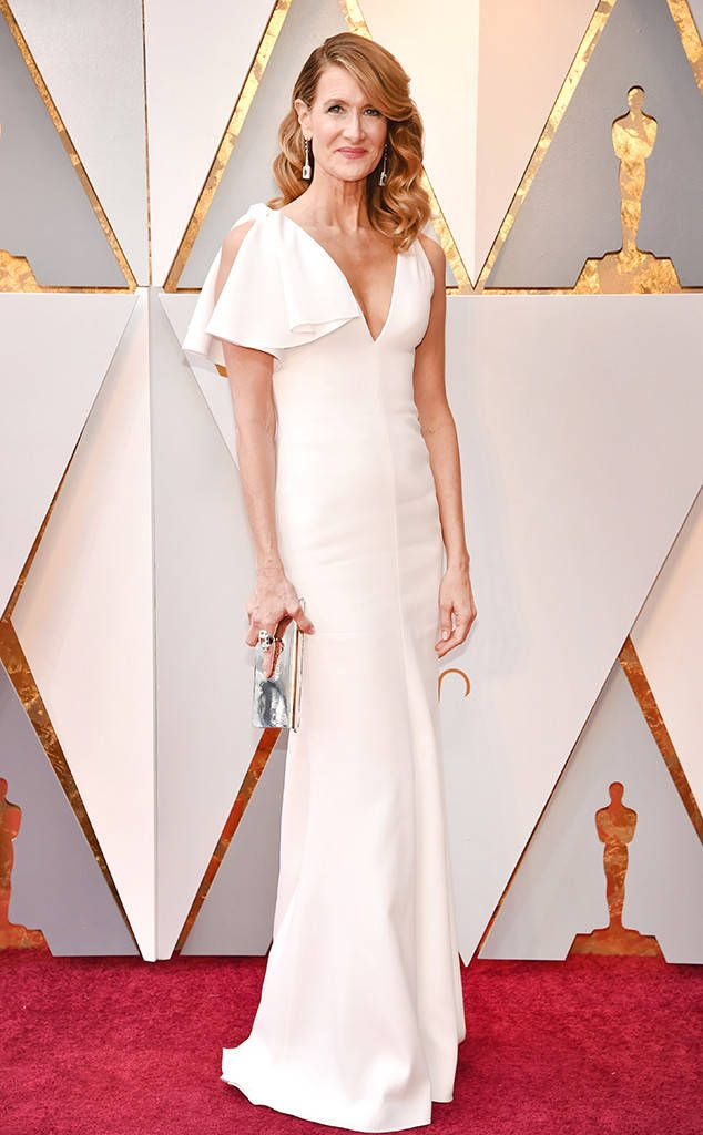 Laura Dern from Standout Style Moments From Oscars 2018  An all-white ensemble on the red carpet always makes a sophisticated statement.