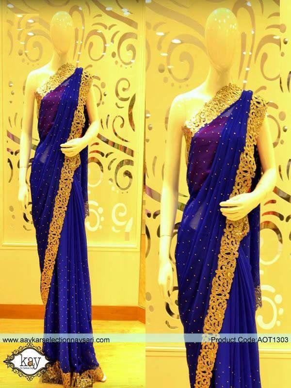 Royal Blue Sari