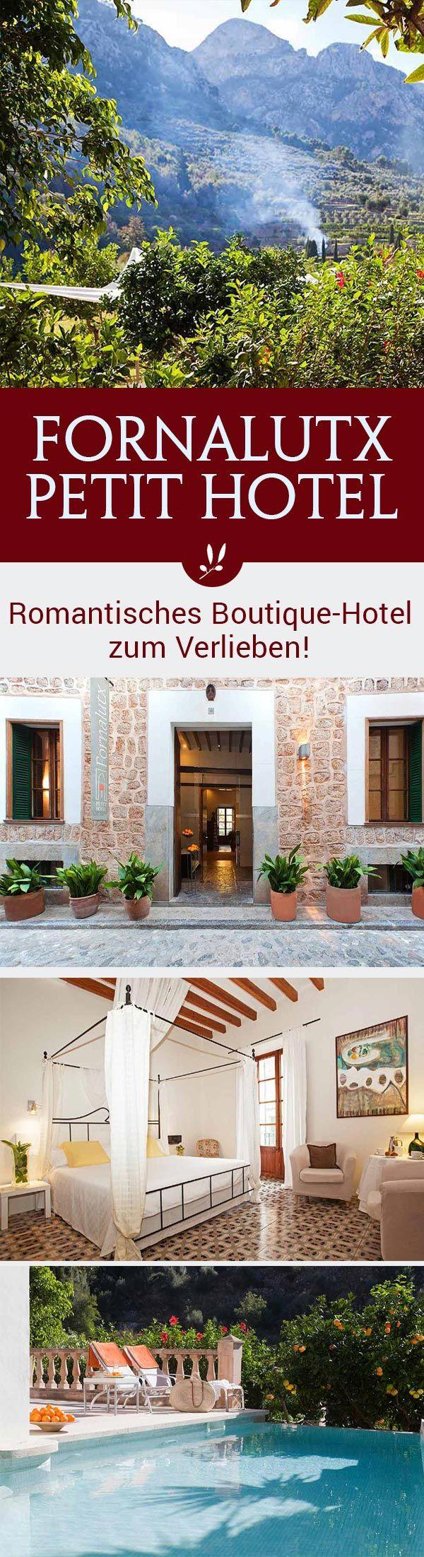 In einem der schönsten Dörfer der Insel, in Fornalutx, im Herzen des Tramuntanagebirges auf Mallorca, befindet sich das Petit Hotel Fornalutx. Als ehemaliges Nonnenkloster ist das Petit Hotel Fornalutx ein Aushängeschild der mallorquinischen Architektur. Bis 1999 diente das heutige Hotel als Dorfschule.