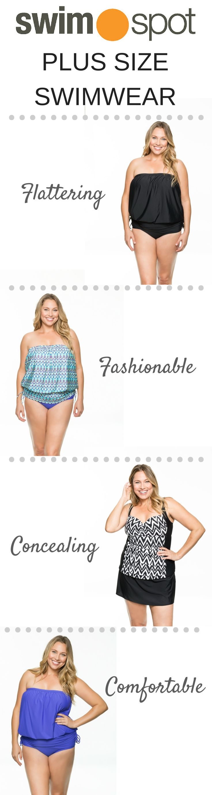 Plus Size swimwear from SwimSpot! Flattering, fashionable, concealing, & comfortable...what more could a girl want?!