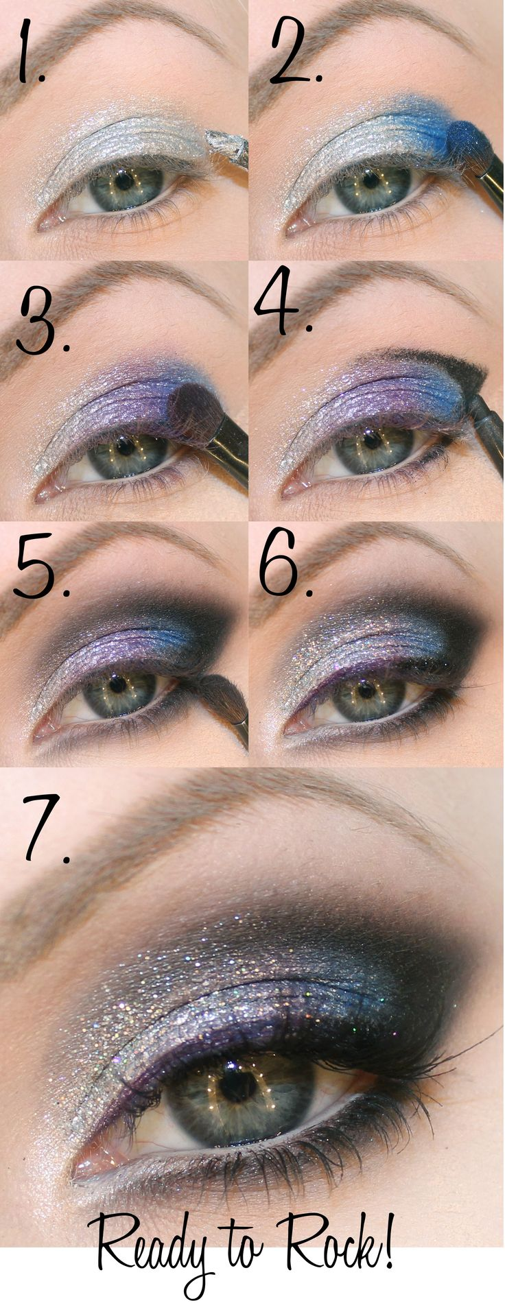 sparkly New Year's makeup