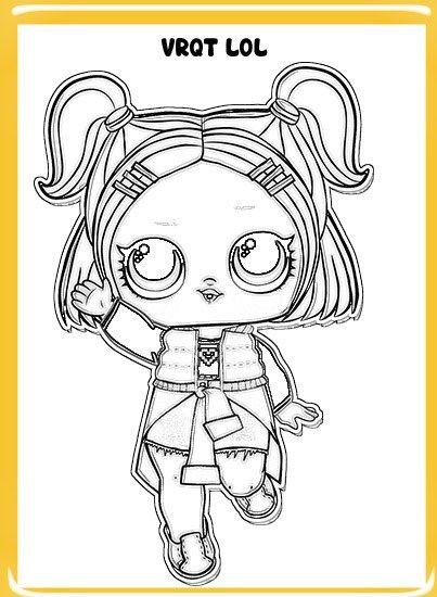 Dibujos LOL Suprise para colorear confeti pop serie 3