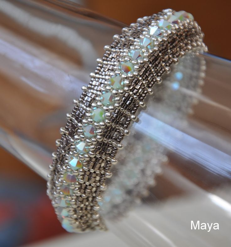 Follow along with the diagrams to learn how to make this show-stopping beaded bracelet.