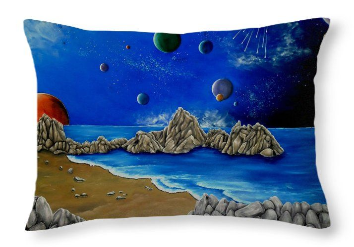 Throw Pillow,  home,accessories,sofa,couch,decor,cool,beautiful,fancy,unique,trendy,artistic,awesome,fahionable,unusual,gifts,presents,for,sale,design,ideas,blue,planets,sky,universe