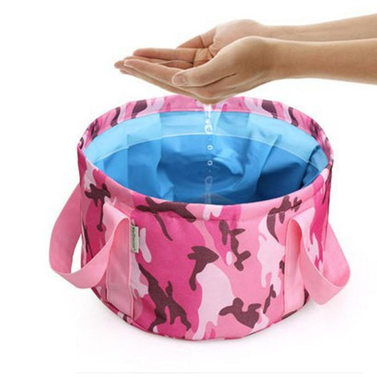 Folding birdbath fishing bucket portable can be hot water lavatory washing footbath bucket outdoor camping supplies