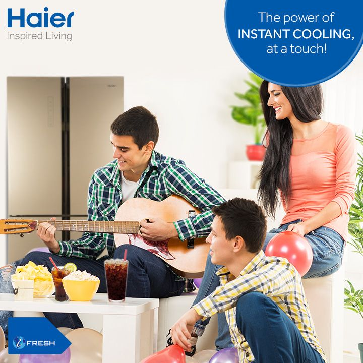 Having a party or hosting a family function made an easy affair! #Haier's 4 Door #refrigerators with Super Cool and Super Freeze Function ensure endless supply of instantaneous cooling and give you the power to cool at a touch.