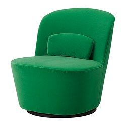 swivels for game play, also comes in yellow and gray, $400... STOCKHOLM Swivel easy chair - Sandbacka green - IKEA