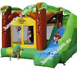 happy hop jungle climb slide bouncy house