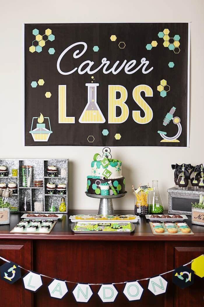 tema para festa de aniversario diferente festa de aniversario menino laboratorio de ciencia kids party ideas blog vittamina decoração para festa de aniversario de menino
